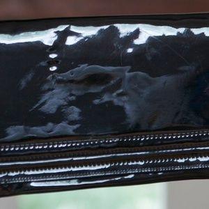 Patent faux leather purse